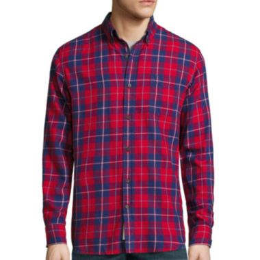 jcpenney.com | St. John's Bay® Long-Sleeve Classic-Fit Flannel Shirt