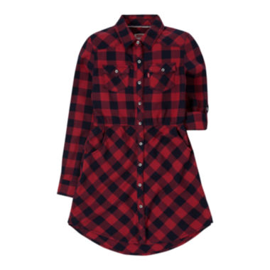 jcpenney.com | Levi's® Long-Sleeve Woven Dress - Girls 7-16