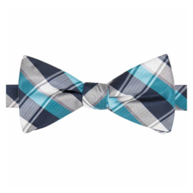 jcpenney.com | Stafford® Lafayette Plaid Pre-Tied Bow Tie