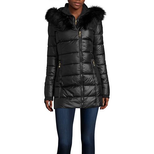 a.n.a® Faux-Fur Collar Puffer Jacket