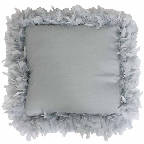 Thro by Marlo Lorenz Mary Feather Trim Throw Pillow
