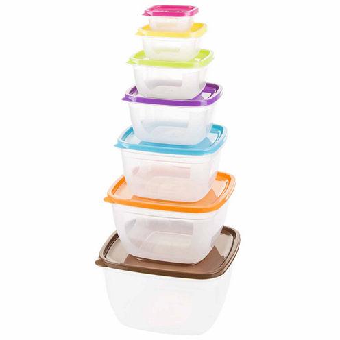 14-Piece Square Food Storage Set
