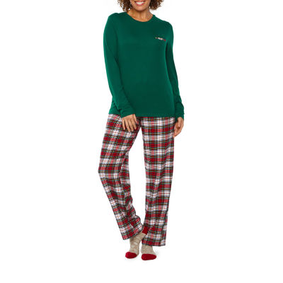 7f20714f76 Liz Claiborne 3 Piece Plaid Pant Pajama Set With Socks - JCPenney