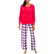 Grand & Essex Long-Sleeve Henley Top and Pants Pajama Set