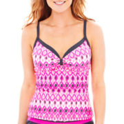 Free Country® Surfside Geo Underwire Tankini Swim Top