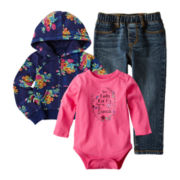 Arizona Long-Sleeve Bodysuit, Hoodie or Jeans - Girls