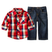 Arizona Plaid Shirt or Jeans - Boys