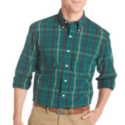 IZOD® Long-Sleeve Tartan Woven Shirt