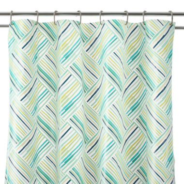 jcpenney.com | Home Expressions™ Striped Patch PEVA Shower Curtain