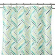 Home Expressions™ Striped Patch PEVA Shower Curtain