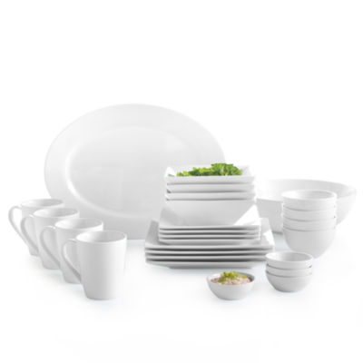 JCPenney Home™ Whiteware Square Dinnerware Collection  sc 1 st  JCPenney & JCPenney Home Whiteware Square Dinnerware Collection