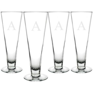 jcpenney.com | Cathy's Concepts Set of 4 Personalized Classic Pilsner Glasses