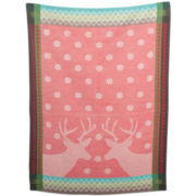 Holiday Reindeer Country Dish Towel