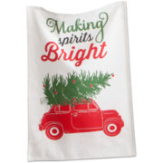 Making Spirits Bright Dish Towel