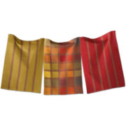 Checks & Stripes Set of 3 Dish Towels