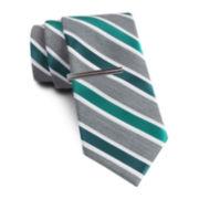 JF J. Ferrar® Heathered Stripe Slim Tie