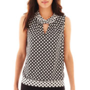 Worthington® Sleeveless Keyhole Top - Petite
