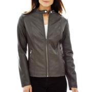 a.n.a® Faux-Leather Scuba Jacket