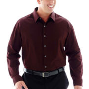 Van Heusen® Long-Sleeve Sateen Stripe Woven Shirt–Big & Tall