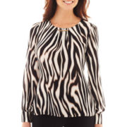 Worthington® Long-Sleeve Hardware Blouse