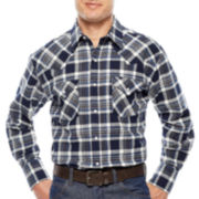 Ely Cattleman® Brawny Tall Flannel Shirt