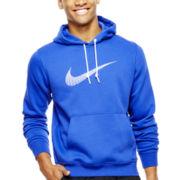 Nike® Club Swoosh Fleece Pullover Hoodie