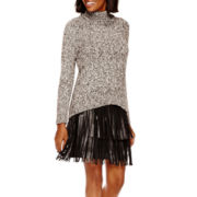 a.n.a® Turtleneck Sweater or Faux-Leather Fringe Skirt