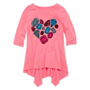 Total Girl® 3/4-Sleeve Tunic - Girls 7-16 and Plus