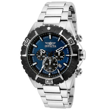 jcpenney.com | Invicta Mens Silver Tone Bracelet Watch-22526