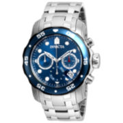 Invicta Mens Silver Tone Bracelet Watch-21784