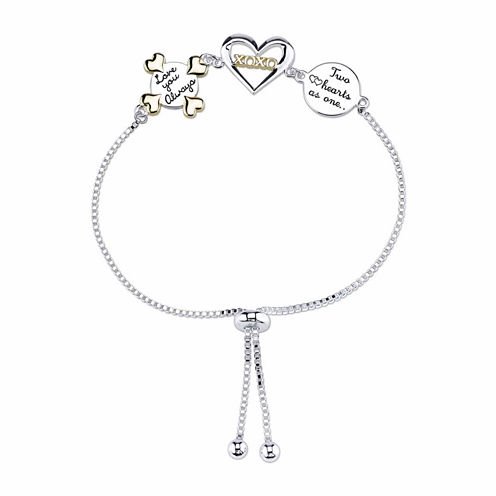 Footnotes Womens Silver Over Brass Bolo Bracelet
