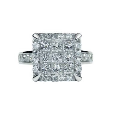 jcpenney.com | LIMITED QUANTITIES Womens 2 1/2 CT. T.W. Princess White Diamond 14K Gold Engagement Ring