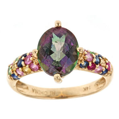 jcpenney.com | Womens Purple Topaz 14K Gold Cocktail Ring
