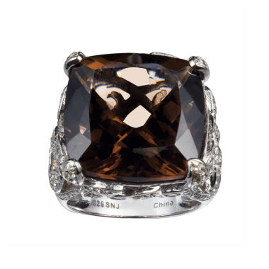 jcpenney.com | Womens Brown Quartz Sterling Silver Cocktail Ring