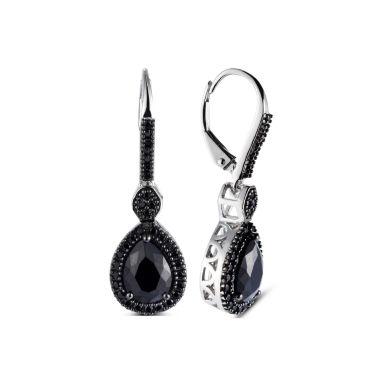 jcpenney.com | Pear Black Spinel Sterling Silver Stud Earrings