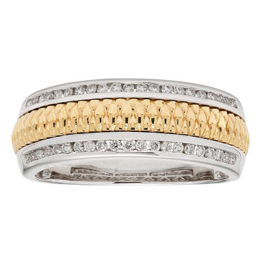 jcpenney.com | Diamente Beaute Womens 1/3 CT. T.W. White Diamond 14K Gold Wedding Band