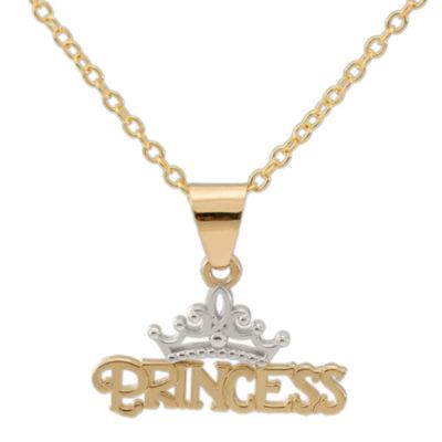 Disney 14k yellow gold princess tiara pendant necklace jcpenney disney 14k yellow gold princess tiara pendant necklace aloadofball Gallery