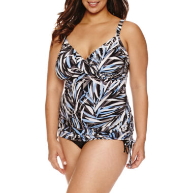 jcpenney.com | Trimshaper®  Palm Passion Wendy Tankini or Side Tie Hipster
