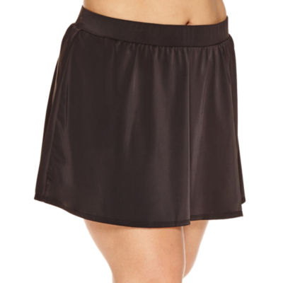 Trimshaper Solid Swim Skirt-Plus