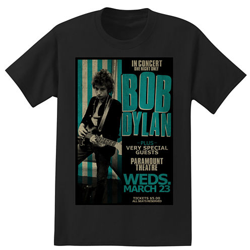 Short Sleeve Bob Dylan Graphic T-Shirt