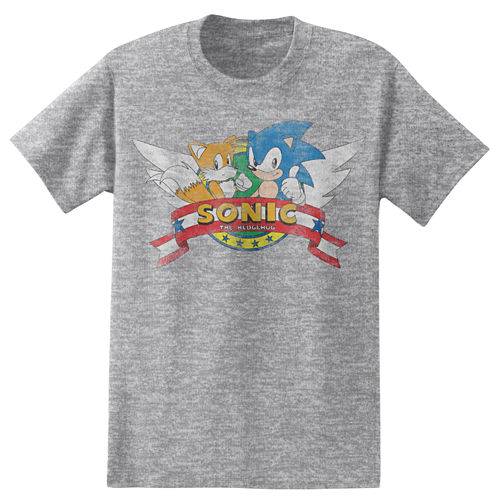 Short Sleeve Sonic the Hedgehog Graphic T-Shirt