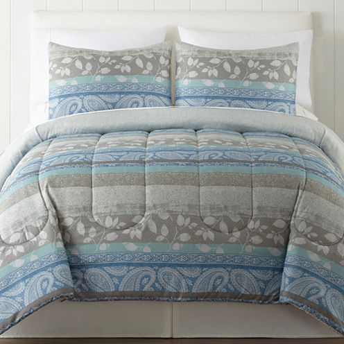 Home Expressions 3-pc. Stripes Comforter Set