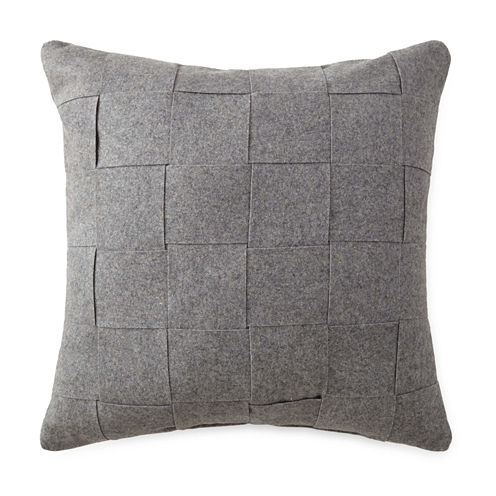 "Reims 18"" Basketweave Square Decorative Pillow"