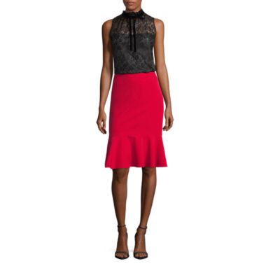 jcpenney.com | Worthington Sleeveless Tie Neck Top and Flounce Skirt