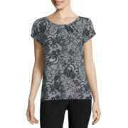 Worthington® Short-Sleeve Scoopneck Top - Petites