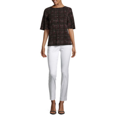 jcpenney.com | Worthington Short Bell Sleeve Top and Slim Fit Ankle Pants