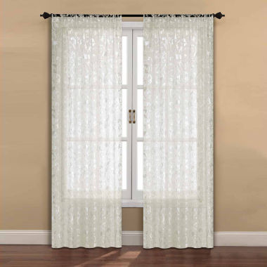 jcpenney.com | Madrid 2-Pack Rod-Pocket Sheer Curtain Panel