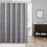 Madison Park Nico Jacquard Shower Curtain