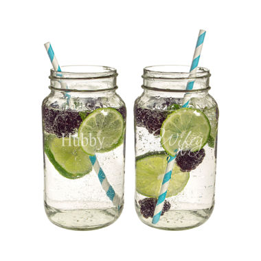 jcpenney.com | Cathy's Concepts Hubby & Wifey 2-pc. Mason Jar