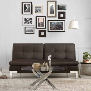 jcpenney.com | Serta Valencia Leather Sleeper Sofa
